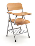 Wooden student chair with desk Royalty Free Stock Photo