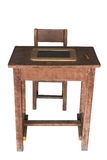 Wooden student desk and chair with slate