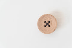 wooden studs on white wood Stock Photography