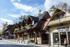 Wooden stylish building in Zakopane Royalty Free Stock Photography