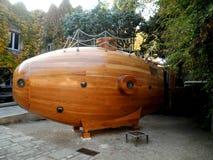 Wooden Submarine Barcelona Royalty Free Stock Photos