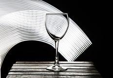 Wine glass on a black background stock photo