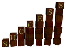 Wooden success Royalty Free Stock Photo