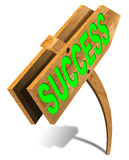 Wooden Success Sign Stock Photo