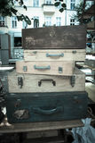 Wooden suitcases Royalty Free Stock Images