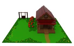 Wooden summer house royalty free illustration