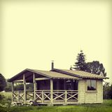 Wooden summer lodge Stock Photography