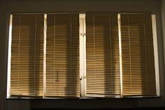 Wooden sun jalousie Stock Image