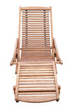 A Wooden Sunbed Isolated Royalty Free Stock Photos