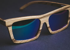 Wooden sunglasses detail Stock Image