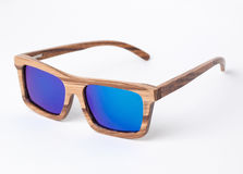 Wooden sunglasses Stock Photography