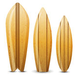 Wooden surf boards Stock Image