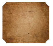 Wooden Surface. A wooden surface isolated on a white background Royalty Free Stock Images