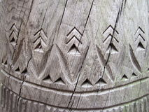 Wooden surface abstract carving Royalty Free Stock Images