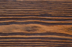 Wooden surface of brown color. Is easily visible texture of dark wood Stock Photography