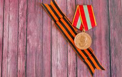 Symbols of the great holiday of Victory Day May 9 royalty free stock photos
