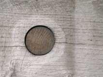Wooden surface with nail Stock Photos