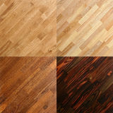 Wooden surface parquet floor plank backgrounds. Set of wooden parquet floor plank backgrounds including oak and pine Royalty Free Stock Image