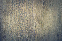 Wooden surface with peeling green paint color Stock Photos