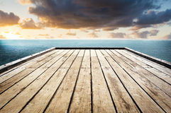Wooden Surface Sky Background Stock Image