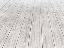 Wooden surface suitable for multiple design purposes 2. White wood background - perspective view wooden floor render Stock Images