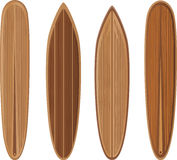 Wooden surfboards set Royalty Free Stock Image