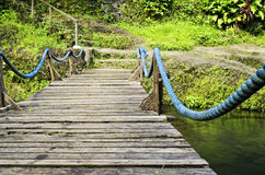 Wooden Suspension Bridge Royalty Free Stock Photography