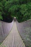 Wooden suspension bridge photography. Travel in wonosobo jawa tengah indonesia Stock Images