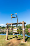 Wooden swing Ban Rak Thai located in Mae Hong Son, Thailand. Stock Photography