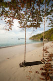 Wooden swing on beach of Similan island Royalty Free Stock Image
