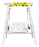Wooden swing chair isolated Royalty Free Stock Photo