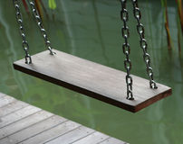 Wooden swing chair Stock Photography