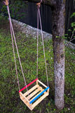 Wooden swing Stock Photos