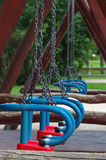 Wooden Swing detail Royalty Free Stock Photo