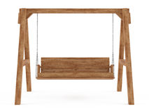 Wooden swing isolated Royalty Free Stock Images
