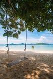 Wooden swing on Naka Noi island in Phuket, Thailand Stock Photography