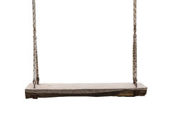 Wooden swing in the park isolated on white. Saved with clipping Royalty Free Stock Photos