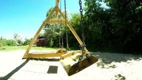 Wooden swing stock video