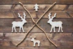 Wooden symbols Stock Image