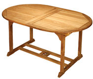 Wooden table. Isolated on the white background Stock Image