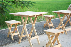 Wooden table. Tables made of wood All the series Stock Photos
