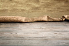 Wooden table with background Royalty Free Stock Photo