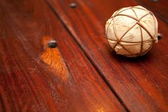 Wooden Table and ball Royalty Free Stock Images