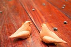 Wooden Table and bird Stock Photos