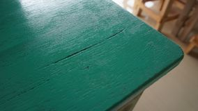 Wooden table boards in turquoise green royalty free stock photos
