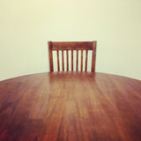 Wooden table and chair Royalty Free Stock Photography