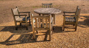 Wooden table and chairs Royalty Free Stock Photography