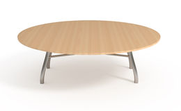 Wooden table, with clipping path. Wooden table,  on white, with clipping path, 3d illustration Royalty Free Stock Photography
