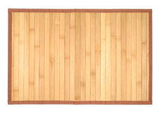 Wooden Table-cloth. Traditional table-cloth isolated with clipping path over white background Royalty Free Stock Photography