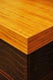 Wooden table corner Stock Photos